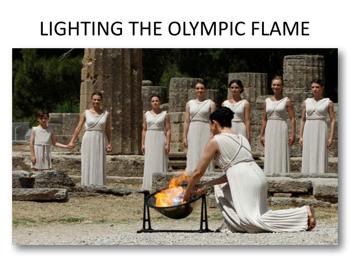 LIGHTING THE OLYMPIC FLAME