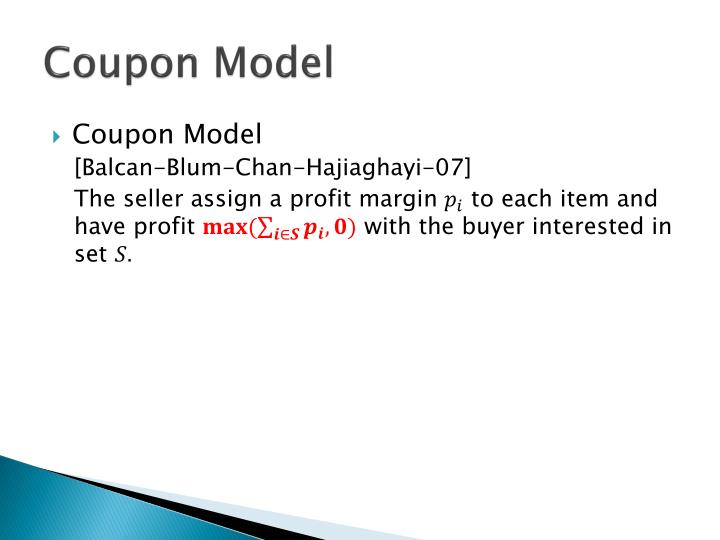 Coupon Model