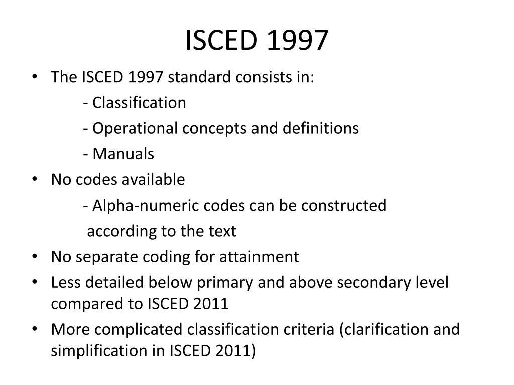 Isced Code