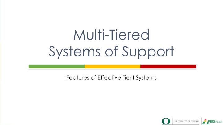 multi tiered systems of support