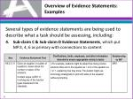 overview of evidence statements examples3