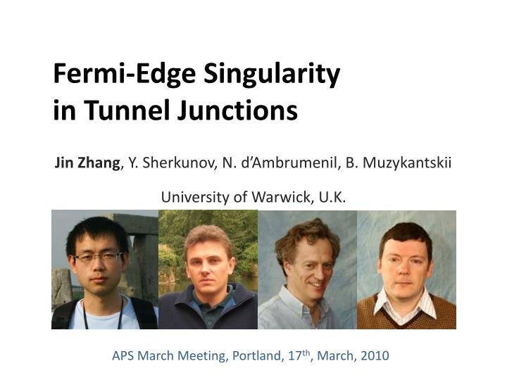 fermi edge singularity in tunnel junctions n.