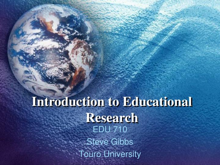 introduction to educational research n.