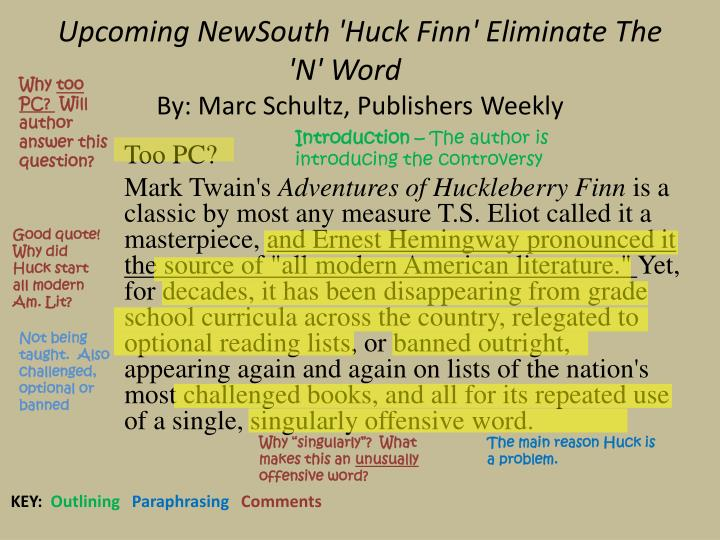 huckleberry finn's impact on modern american