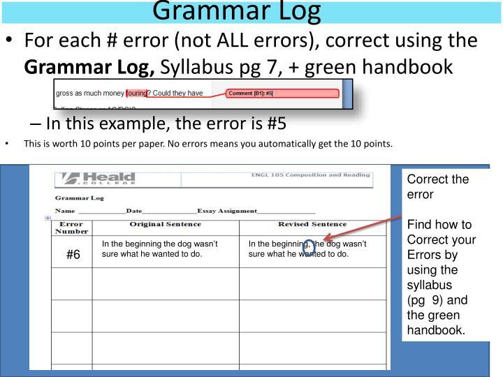 Grammar log