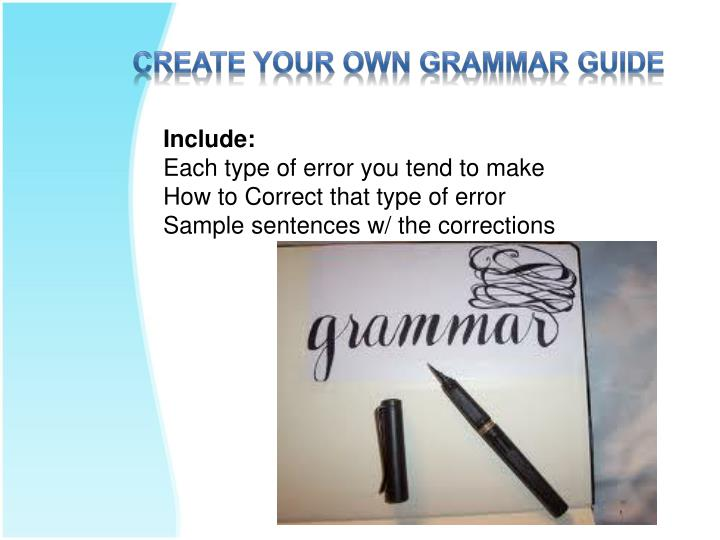 Create Your Own Grammar Guide