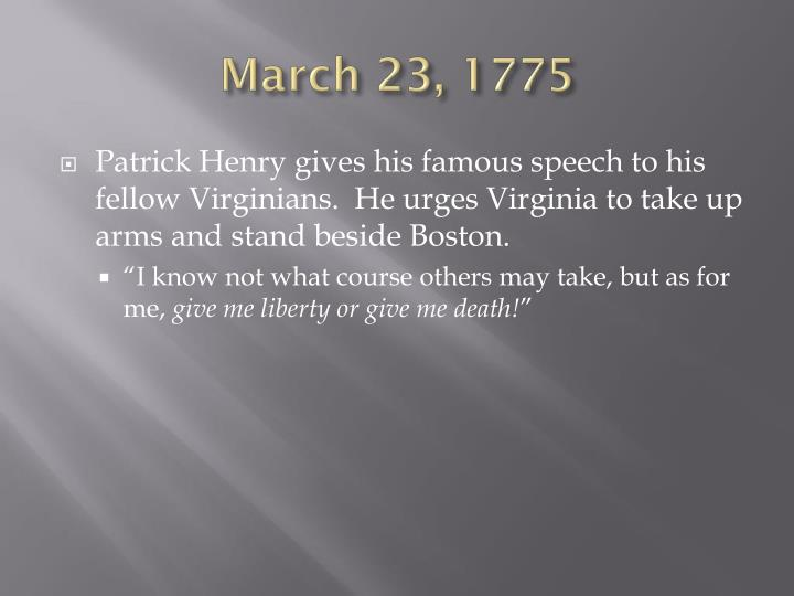 March 23, 1775