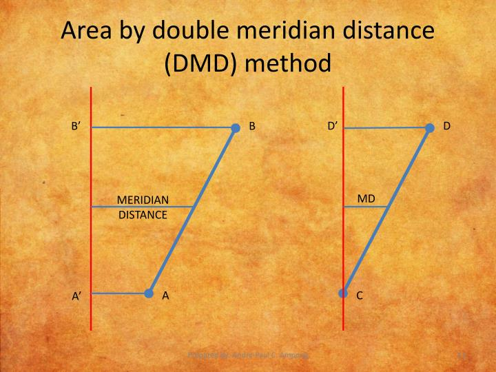 Area by double meridian distance (DMD) method