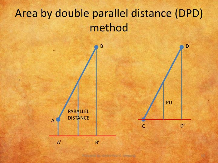 Area by double parallel distance