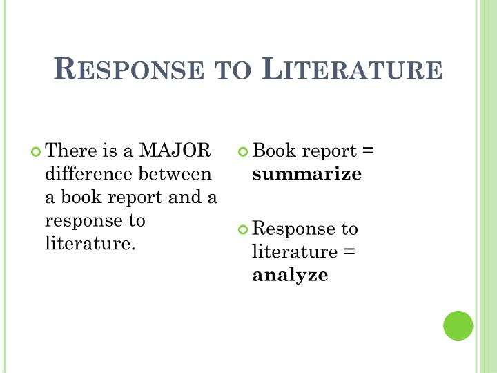difference between book report and literary analysis What is the difference between an evaluation  and an analysis of a concepthelp me with examples.