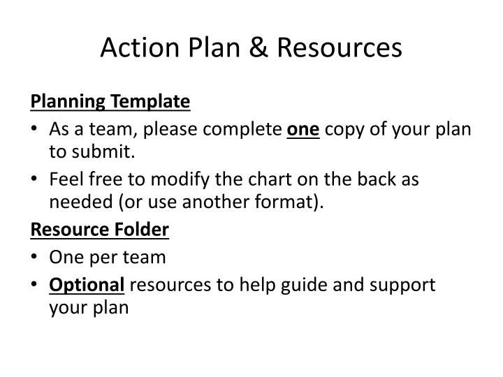 Action Plan & Resources