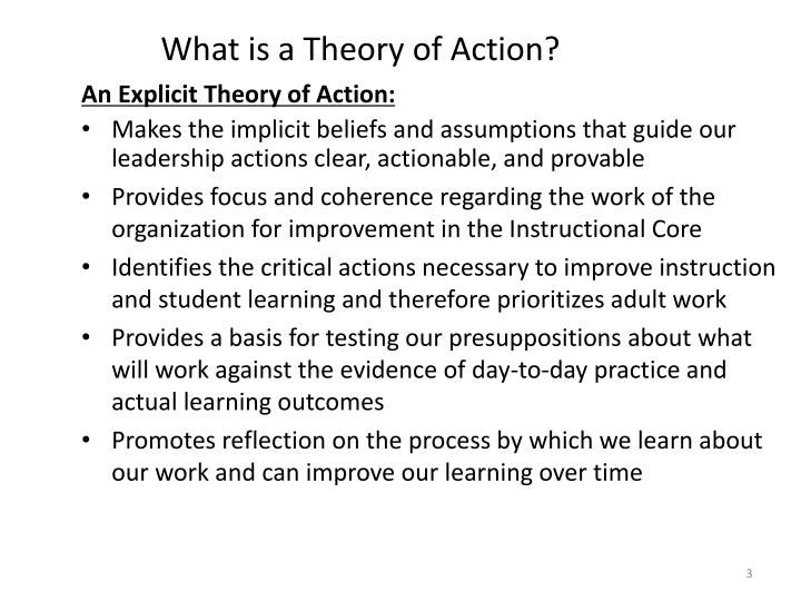 What is a theory of action
