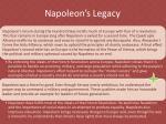 napoleon s legacy