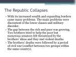 the republic collapses