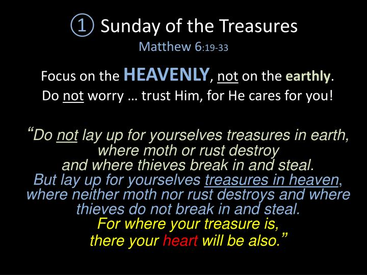 Sunday of the Treasures