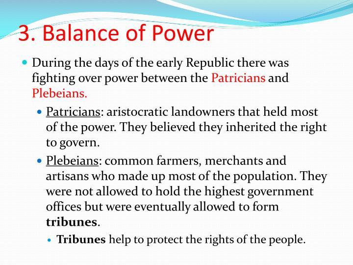 3. Balance of Power