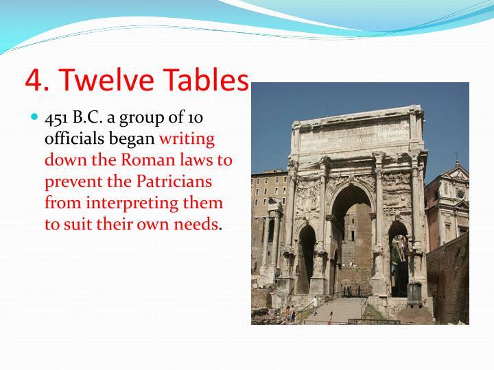 4. Twelve Tables