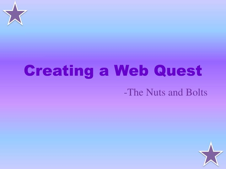 Creating a web quest