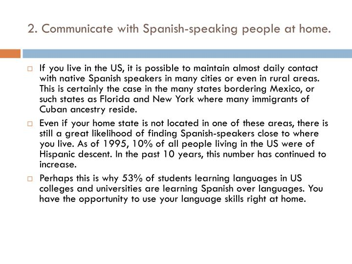 2 communicate with spanish speaking people at home