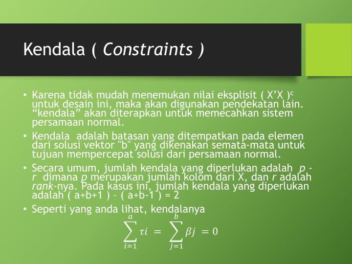 Kendala (