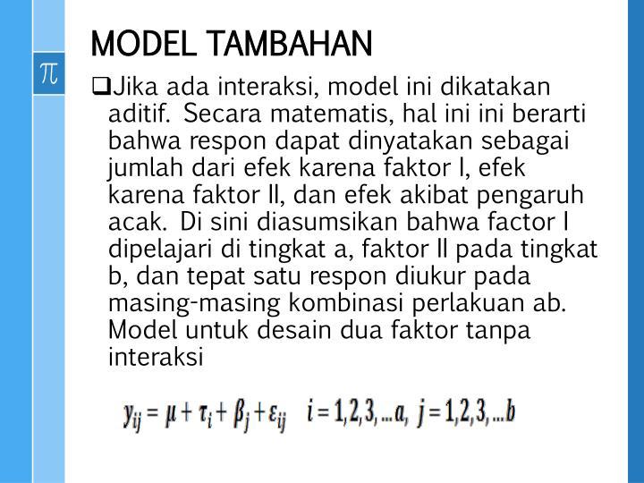 MODEL TAMBAHAN