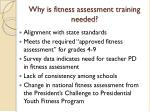 why is fitness assessment training needed