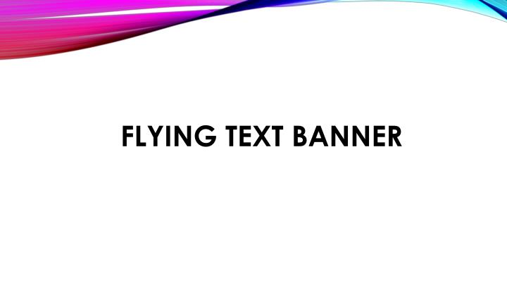 flying text banner n.