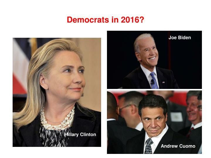 Democrats in 2016?