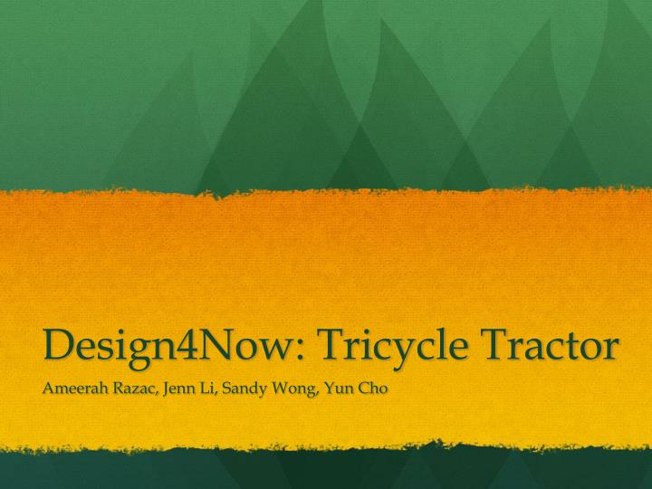 design4now tricycle tractor n.