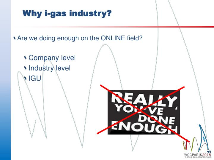 Why i gas industry
