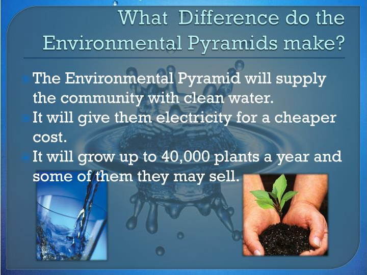What  Difference do the Environmental Pyramids make?