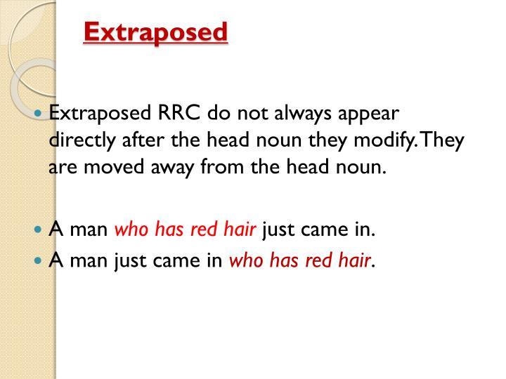 Extraposed