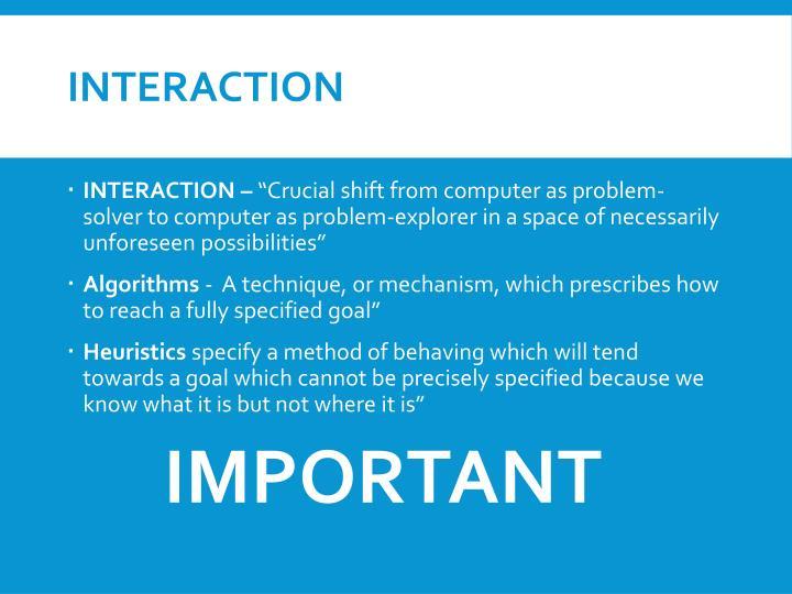 Interaction