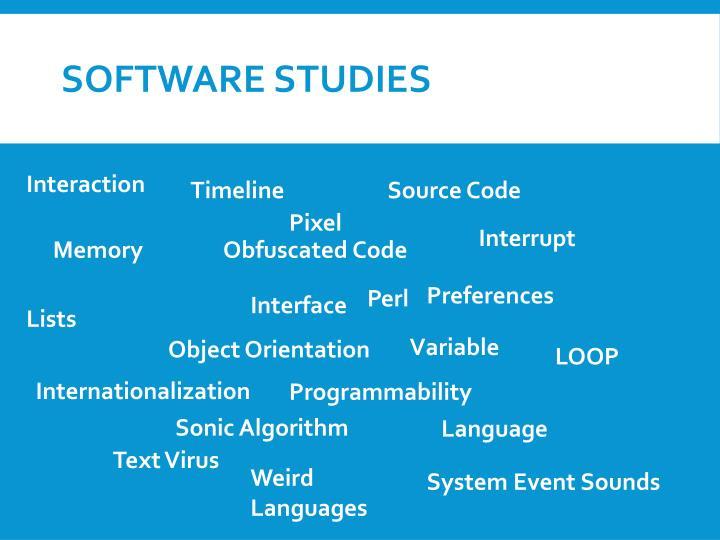 Software studies