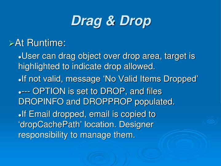 At Runtime: