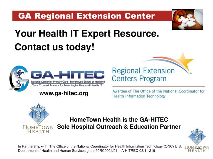 GA Regional Extension Center
