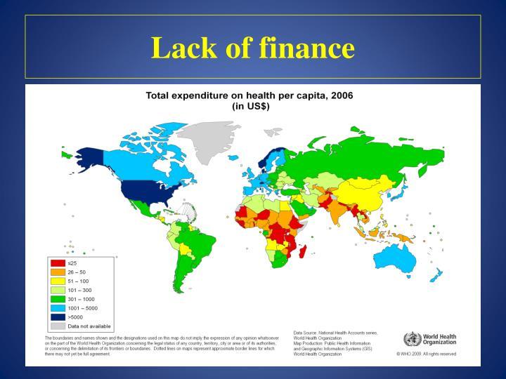 Lack of finance