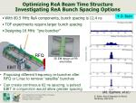 optimizing rea beam time structure investigating rea bunch spacing options