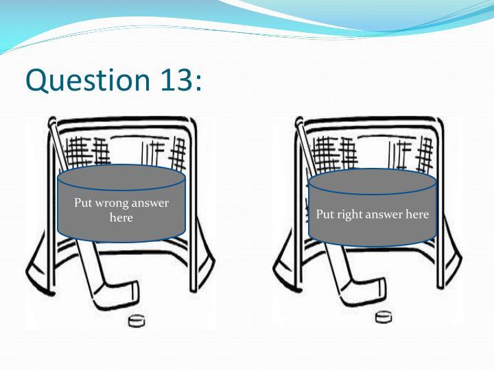 Question 13: