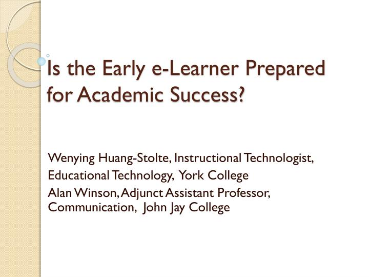 preparing for academic success at the Strategies for academic success and in our college library about how best to prepare for classes with the goal of helping students to succeed.
