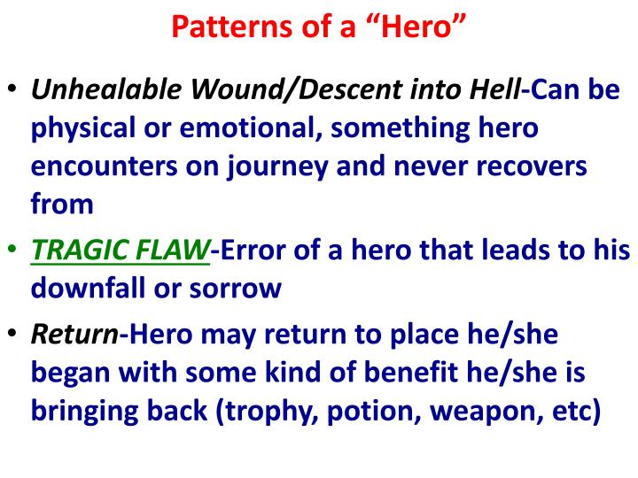 """Patterns of a """"Hero"""""""