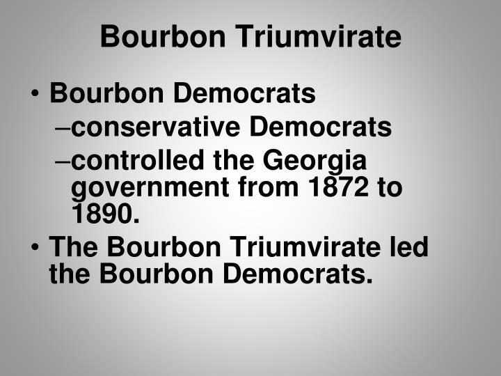 Bourbon Triumvirate