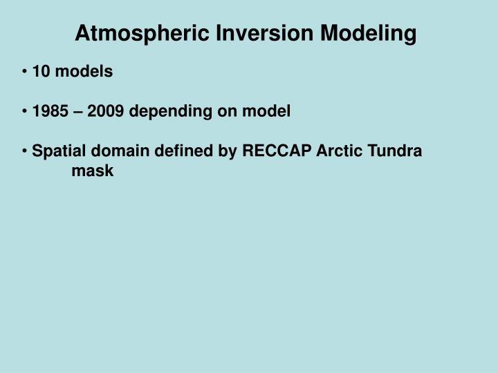 Atmospheric Inversion Modeling
