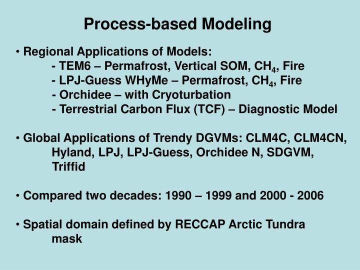Process-based Modeling