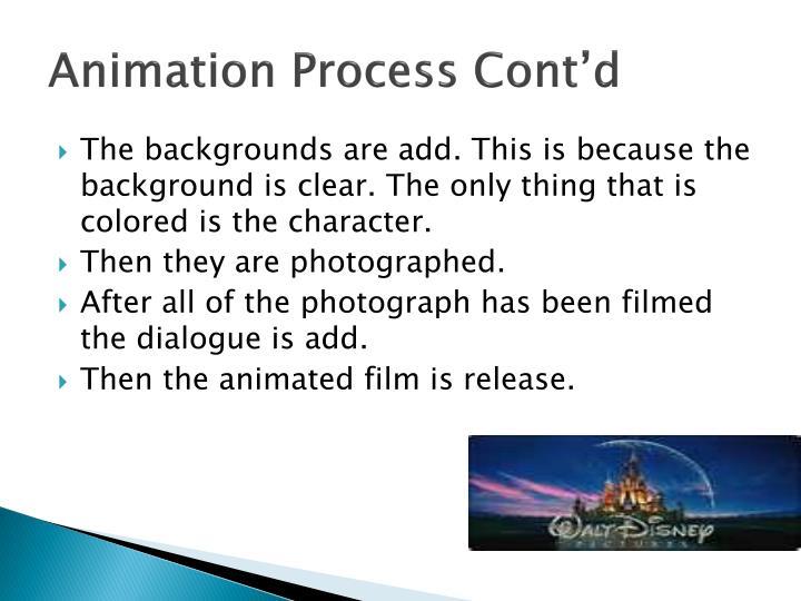 Animation Process Cont'd
