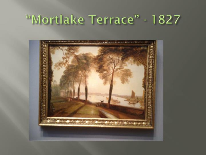 Mortlake terrace 1827