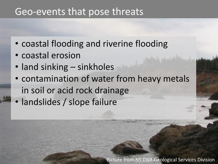 Assessing Geological Hazards