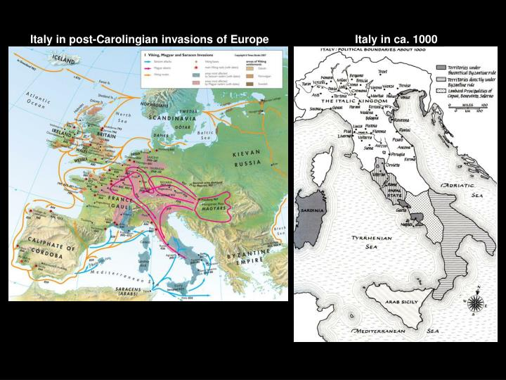 Italy in post-Carolingian invasions of Europe