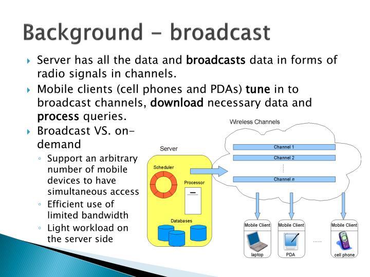Background - broadcast