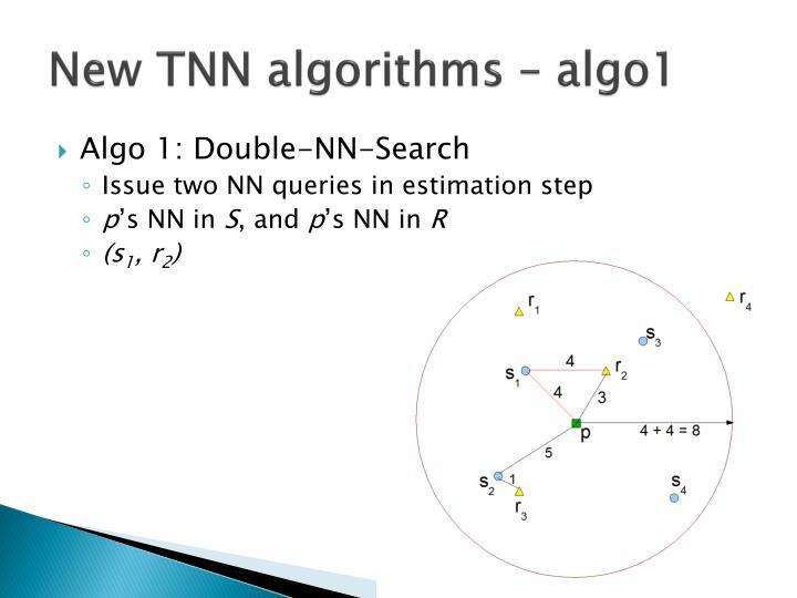 New TNN algorithms – algo1